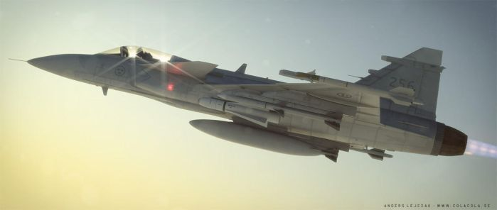Super JAS Gripen, sunset version. by bazze