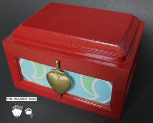 Snow White Evil Queen Heart Box Replica Prop by TheImagineEars