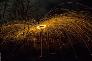 Wirewool Spinning (4) by Mincingyoda