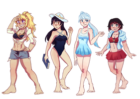 Rwby summer by LeRaphe