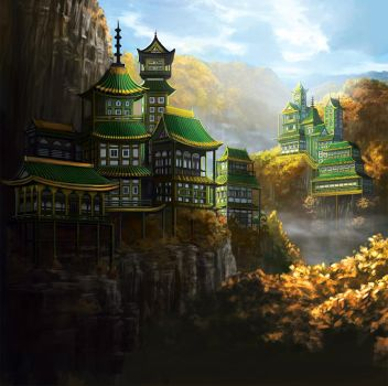 The Remote Monastery of the Dragon by Alayna