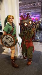 Link and Skull Kid by EgonEagle