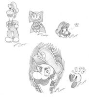 Luigi death stare and other by CutyAries