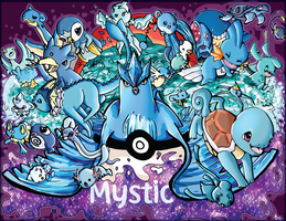 TEAM MYSTIC! 26 Pokemon(Print for sale+Speedpaint)