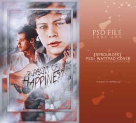 Pursuit of Happiness (PSD WATTPAD COVER) by lous-art