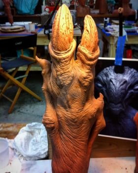 Alien arms I sculpted for Star Trek Beyond by Marc-Opdycke