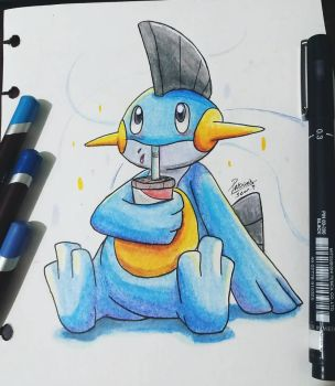 Blu the Marshtomp by Ppoint555