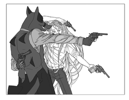 They Both Reached for the Gun by PixieParrot