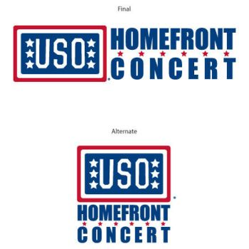 USO Homefront Concert logos by gotdesign