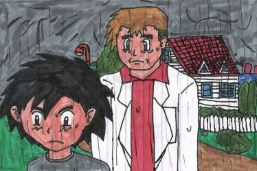 Ash and Professor Oak by nikkissippi121