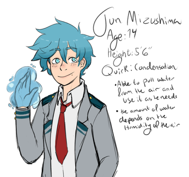 New BNHA OC - Jun Mizushima by AskTora