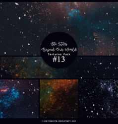 Textures pack #13 - The Stars Beyond Our World by lune-blanche