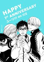 Yuri on Ice - 1st anniversary by LeorenArt
