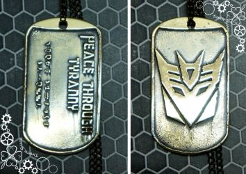 Megatron decepticon dog tag by TimforShade