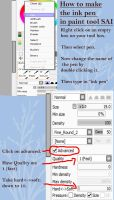 How to make: ink pen  in SAI by Discarbia
