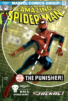 Amazing Spider-Man 129 cover recreation by Tloessy