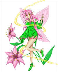 Fairy of the Flowers by ChibiFaery