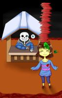 Undertale: Frisksepticeye and Sans by Anna-CC