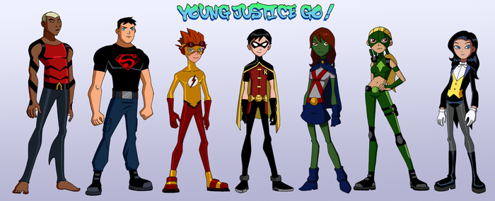 Young Justice Go! by Glee-chan