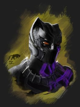 Black Panther Sketch by chappylicious