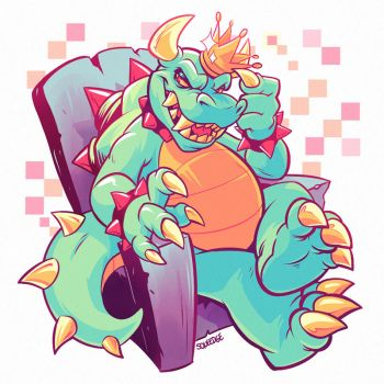 King Koopa by squeedgemonster
