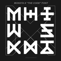 MONSTA X - THE CODE font by Blackironcat