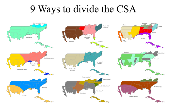 9 Ways to Divide the CSA by Wyyt