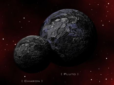 Pluto and Charon by adez