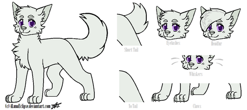 Cat Lineart 2|Free to use-MUST Credit me/Read Desc by 4LunaEclipse