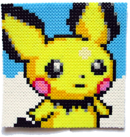 Pichu Perler Portrait [for sale] by Aenea-Jones