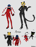 Ladybug+Chat Noir Redesigns by SoloAzume