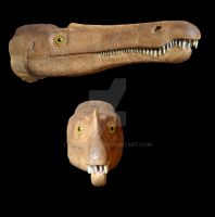 Suchomimus head by Pachyornis