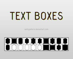 Custom Shapes_TextBoxes by iamtypehere