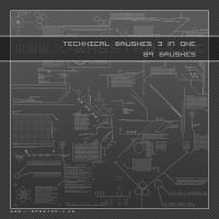 Technical Brushes 3 in one 89x by basstar