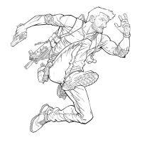 Nathan Drake Line Work by PatrickBrown