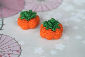 Kawaii Crocheted Amigurumi Harvest Pumpkin by TheBittiestBaubles