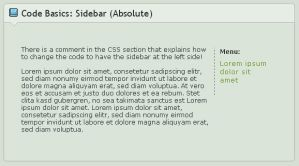 Code Basics: Sidebar- Absolute by ginkgografix