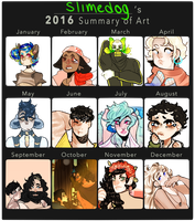 2016 Art Summary by sl1med0g