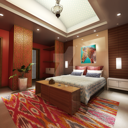 Indian Styled Bed Room - Night View