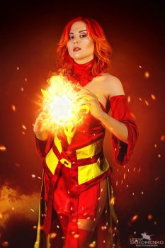 Cosplay Lina Dota 2 by FuckingNya