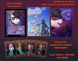 Anthrocon 2016 - New Releases! by KadathArt