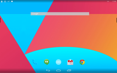 WIP Android KitKat for Rainmeter - Homescreen by ScoobSTi