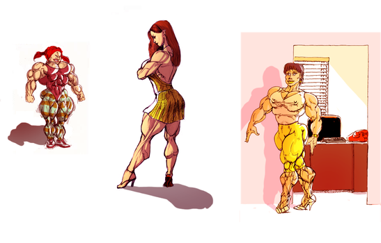 Colored muscle babes by Ritualist