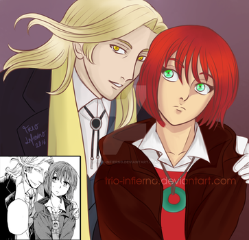 Manga re-draw: Human elias and Chise by Trio-Infierno