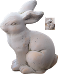 bunny sculpture png by Nexu4