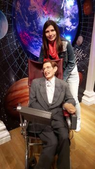 Madame Tussaud's: Steven Hawking and I by MissJulyFarraday