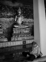Sleeping By Buddha by InayatShah