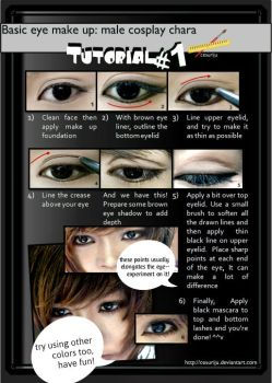 Basic male eye make up Tutorial 01 by ikumi00