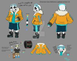 Dimension Sans Reference sheet version 2.0 by catgir