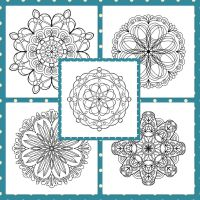 Mandala Lineart: Print and Paint by Marce3